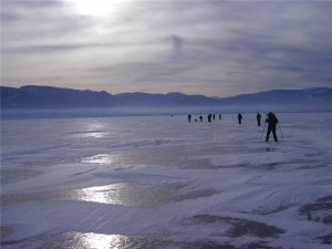 Лыжный марафон на льду Байкала