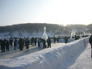 Крещение проходит в Иркутске