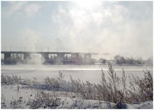 Сильные морозы в Иркутске