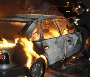 В Иркутске сгорели автомобили