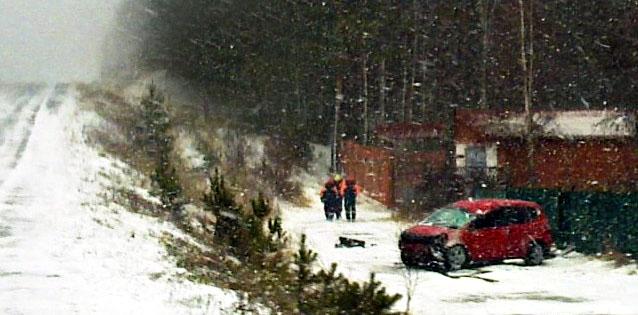 Автомобиль Honda Fit съехал с трассы и перевернулся. Неподалеку в лесополосе лежал еще один автомобиль. Фото: Wellcom, Drom.ru