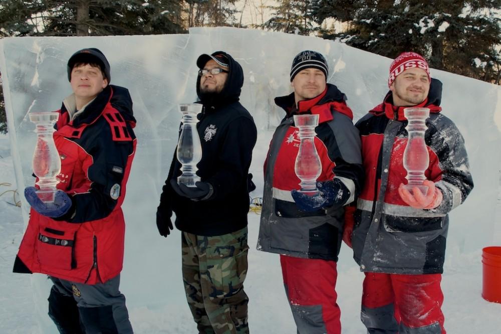 Слева направо: Эдуард Пономаренко, Мартинез Джулио, Иван Зуев, Алексей Тугаринов. Фото: icealaska.com