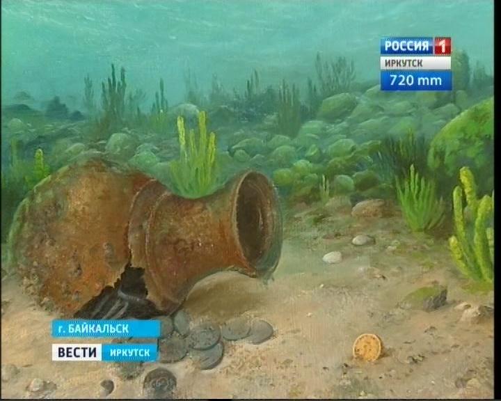 Картина Юрия Васильева, выполненная под водой Байкала
