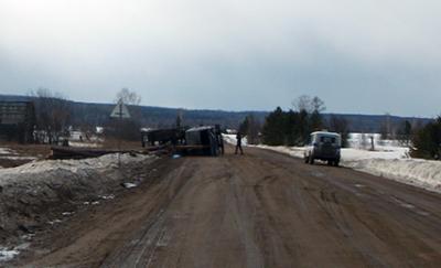 В Тайшетском районе Иркутской области в ДТП погиб пассажир лесовоза