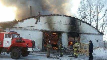 В городе Усть-Куте произошел крупный пожар
