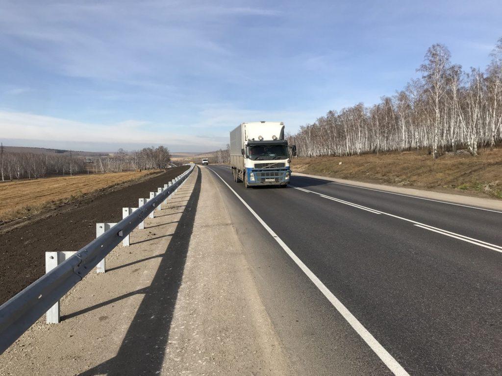 16 км федеральной автодороги Р-255 «Сибирь» отремонтировали в Иркутской области