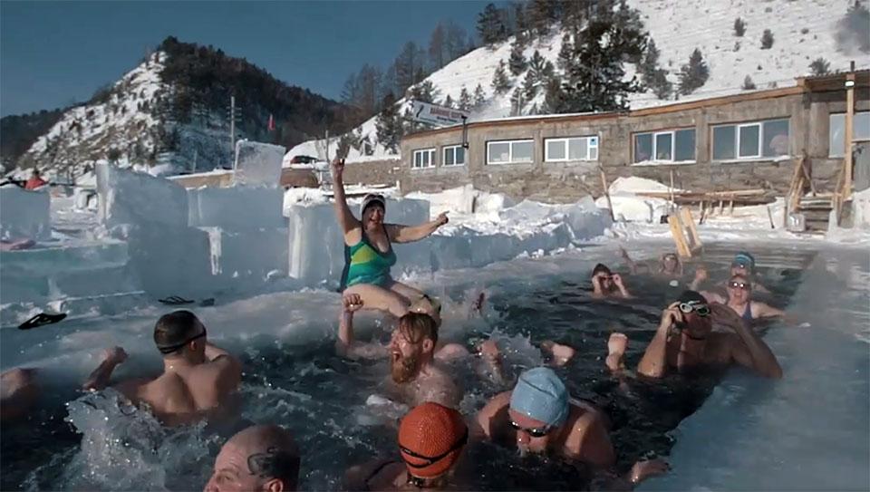 Пародию на Satisfaction challenge сняли иркутские «моржи»