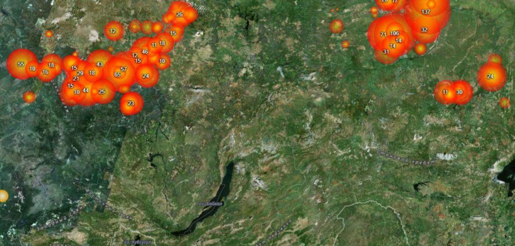 МЧС: задымление населенных пунктов в Иркутской области возможно в связи с лесными пожарами в Красноярском крае