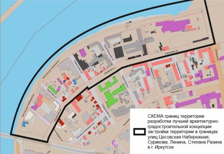 Объявлен конкурс на лучшую концепцию застройки Цесовской Набережной в Иркутске