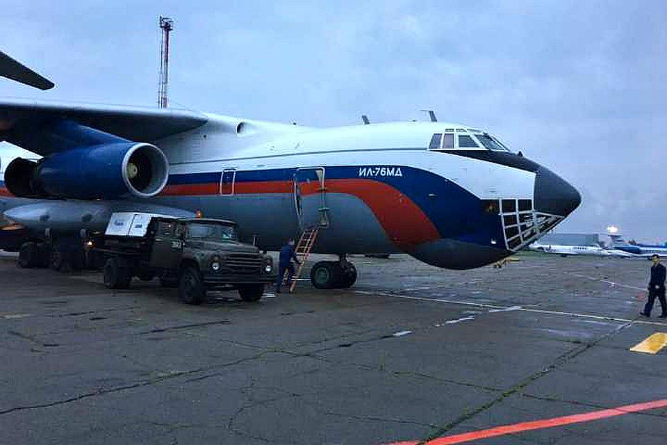 В Приагарье прибыл военный самолет с гумпомощью для пострадавших при наводнении