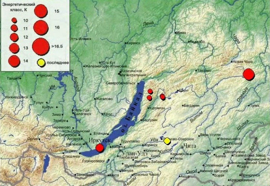Землетрясение произошло в центре Бурятии