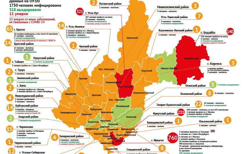 318 человек выздоровели от коронавируса в Иркутской области